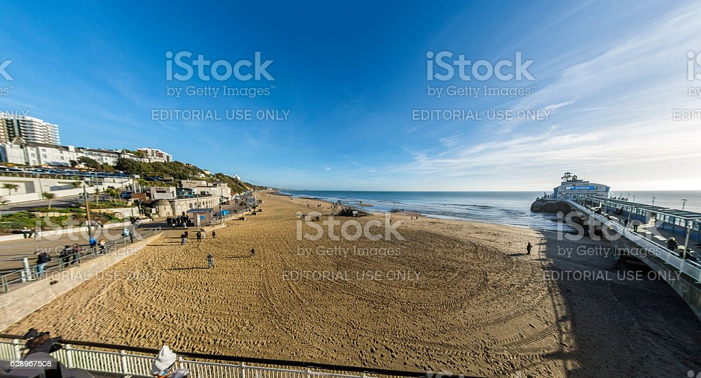 Bournemouth East Cliff and Pier stock photo