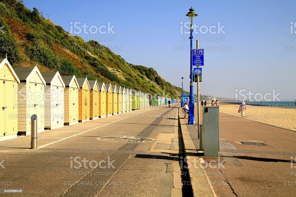 Bournemouth Promenade. stock photo