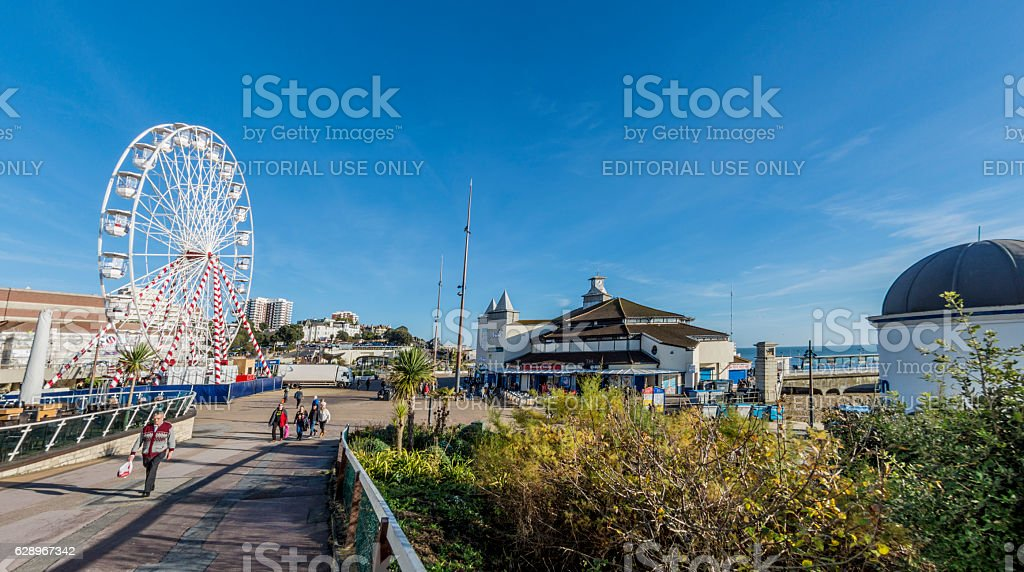 Bournemouth Seafront with Big Wheel stock photo