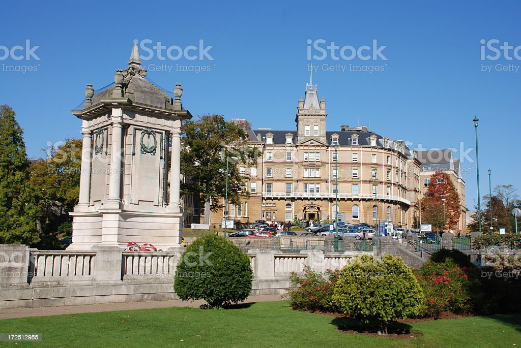 Bournemouth Town Hall and War Memorial stock photo