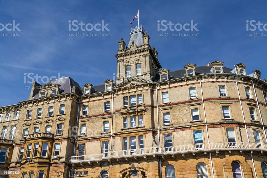 Bournemouth Town Hall, ex hotel. stock photo