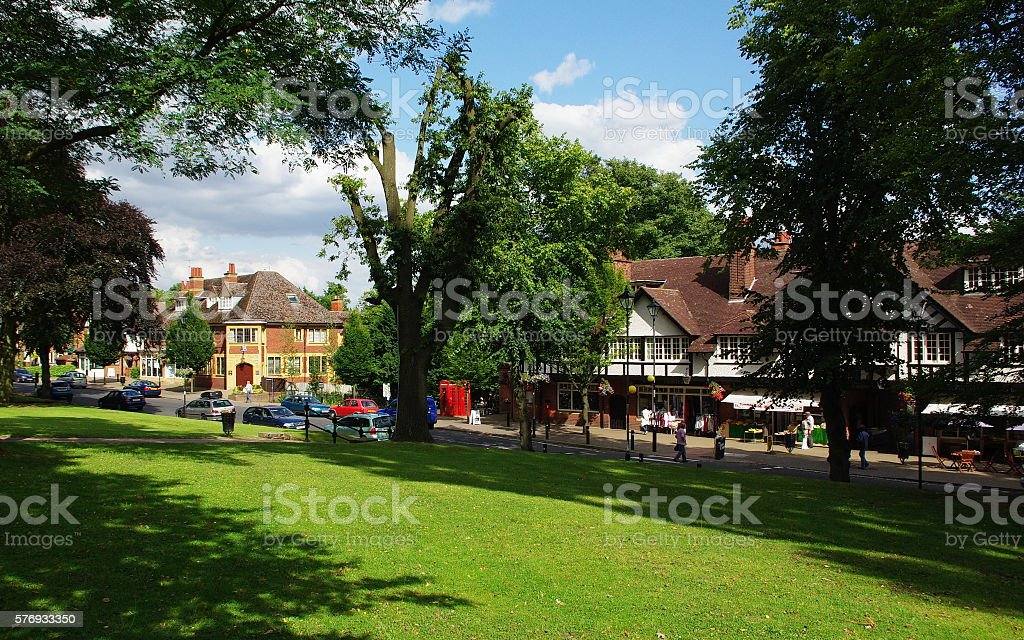 Bournville Village Green stock photo
