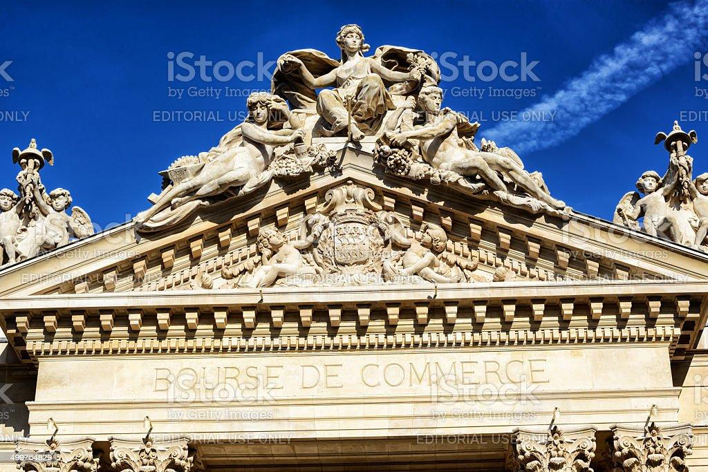 Bourse de Commerce in Paris stock photo