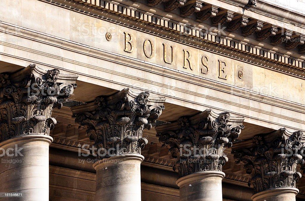 Bourse de Paris stock photo