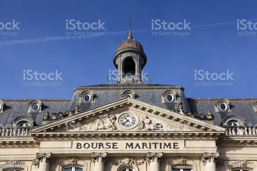 Bourse maritime, Bordeaux, Gironde, Aquitaine royalty-free stock photo