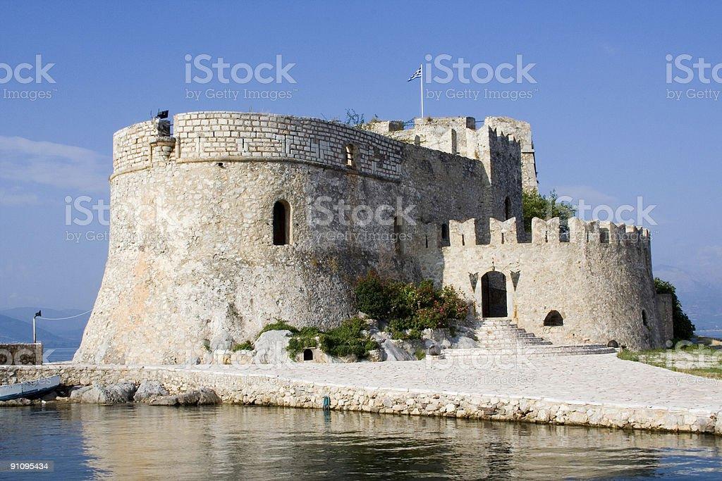 bourtzi castle in nafplion greece stock photo