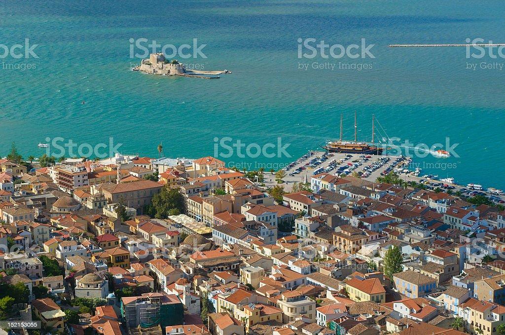 bourtzi castle, nafplion, greece stock photo