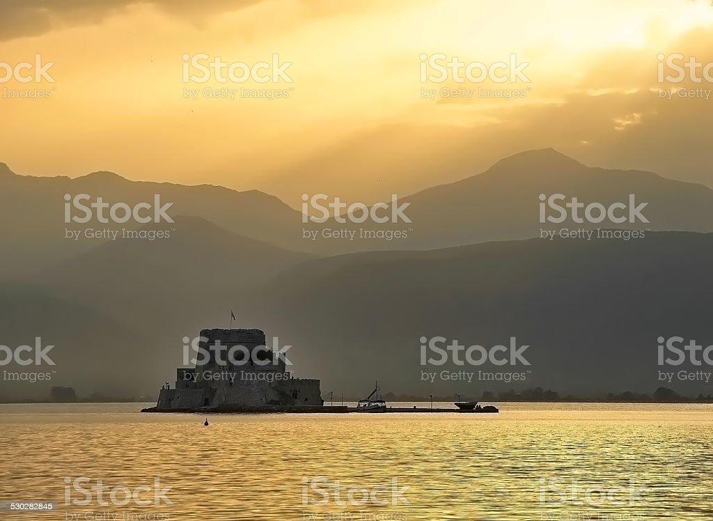 Bourtzi fortress stock photo
