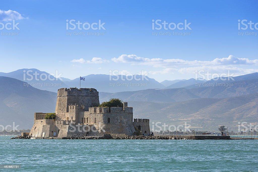 Bourtzi Historical fort in Nafplion, Greece stock photo