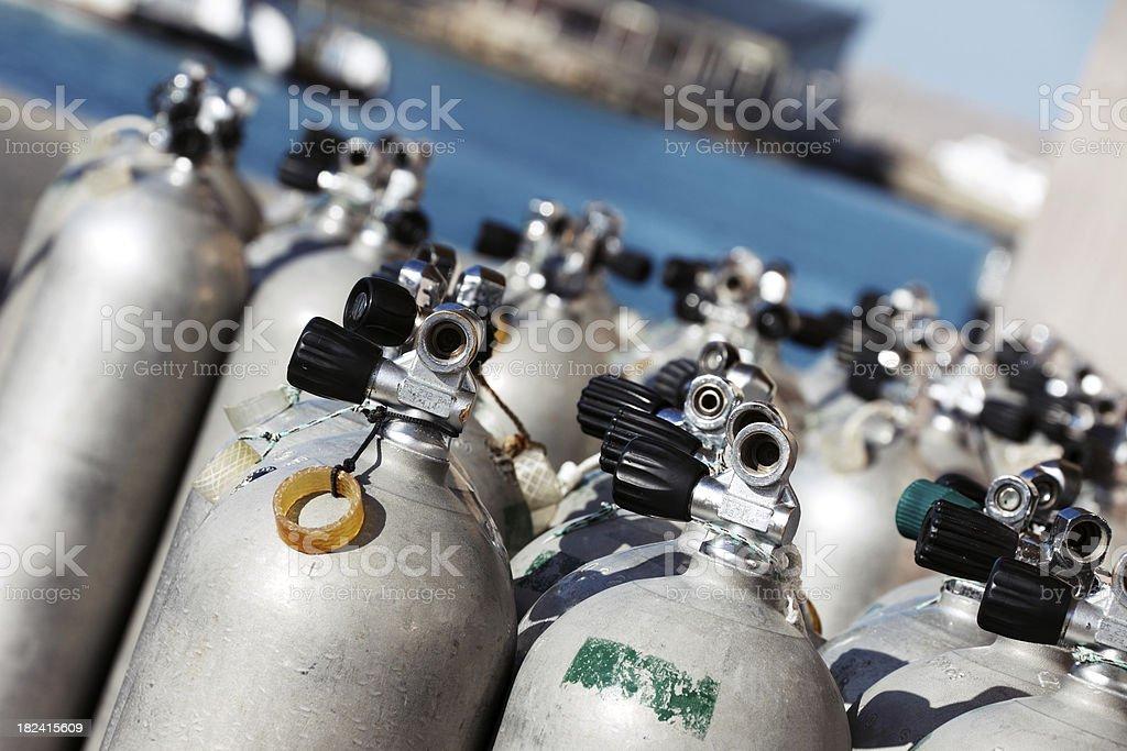 Bouteilles de Plongée stock photo