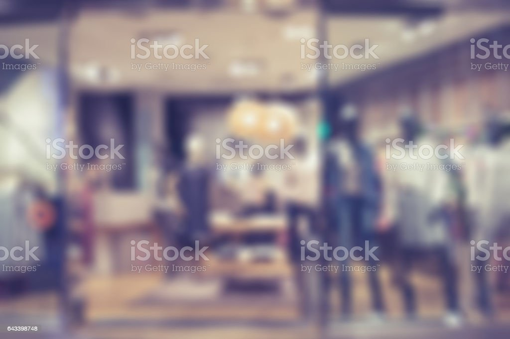 Boutique display window background. stock photo