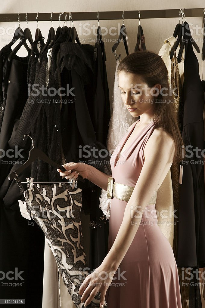 Boutique girl royalty-free stock photo