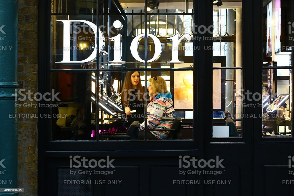 Boutique of Dior in London stock photo