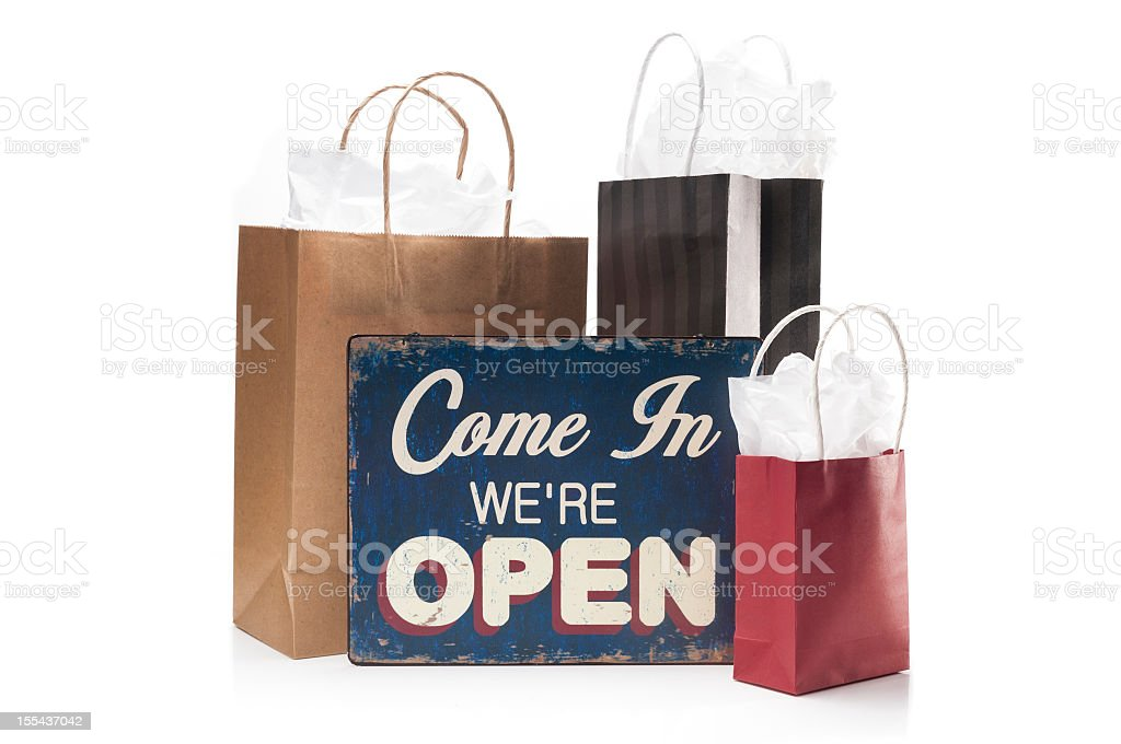 Boutique Open royalty-free stock photo