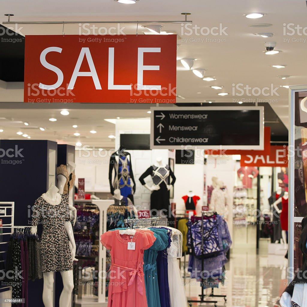 Boutique sale stock photo