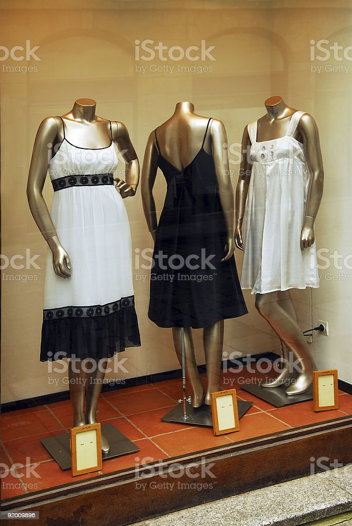 Boutique window royalty-free stock photo