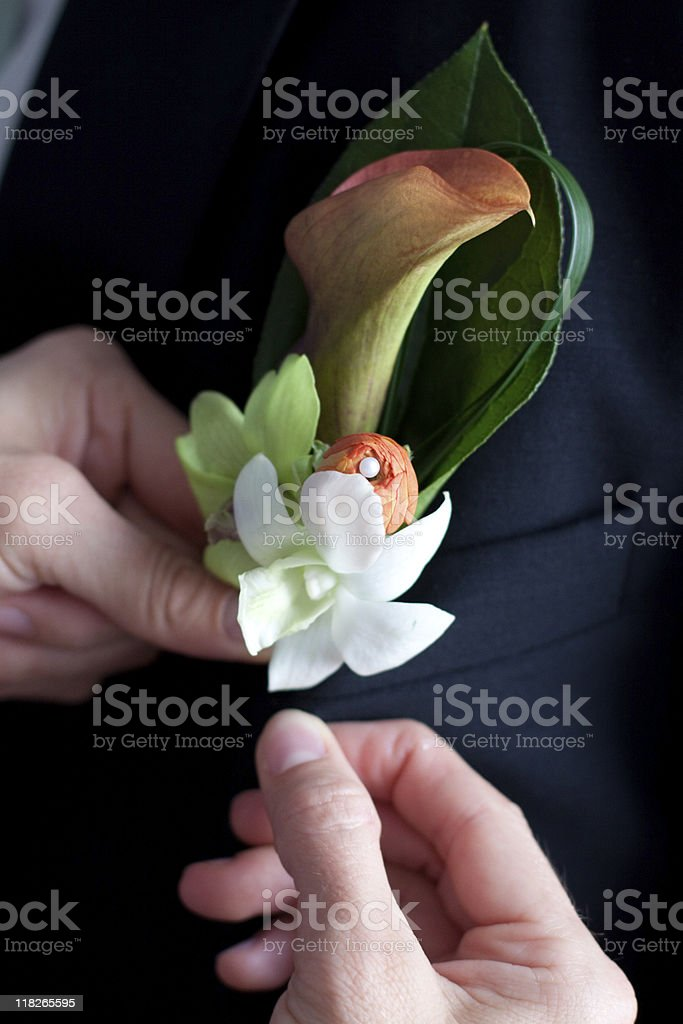 Boutonniere royalty-free stock photo