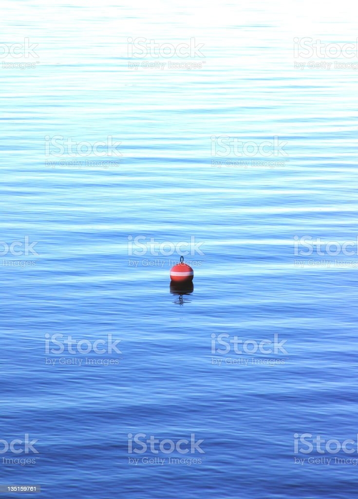 Bouy by the lake royalty-free stock photo