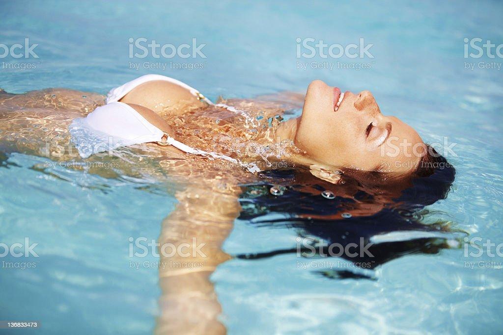 Bouyant beauty royalty-free stock photo