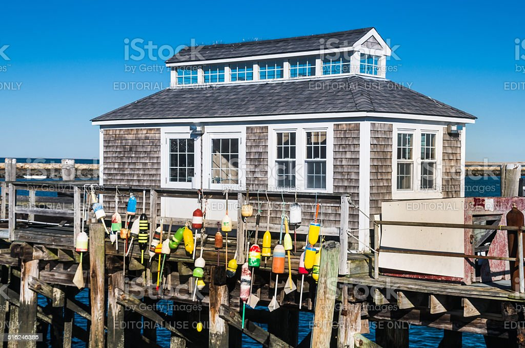 Bouys on the Pier stock photo
