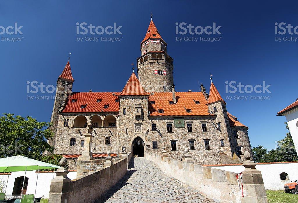 Bouzov castle stock photo