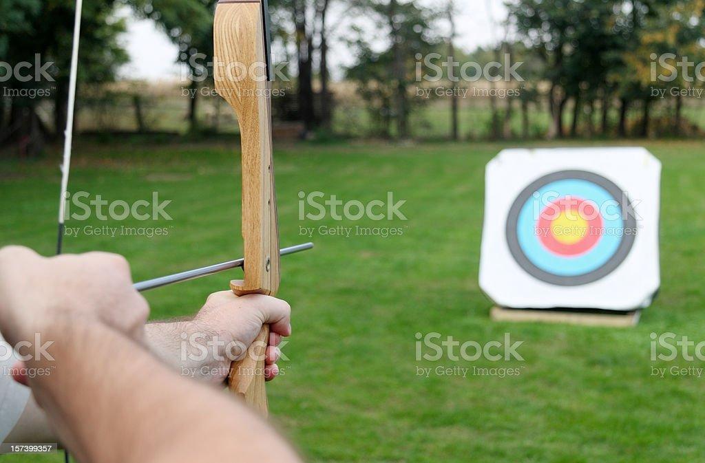 Bow and arrow royalty-free stock photo