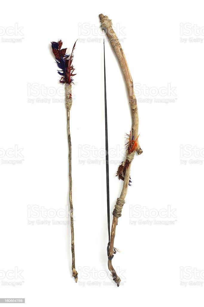 Bow and Arrow stock photo