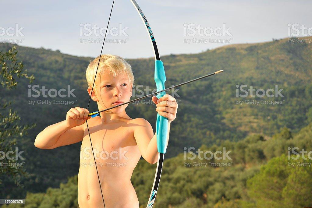 Boy with Bow and Arrow.