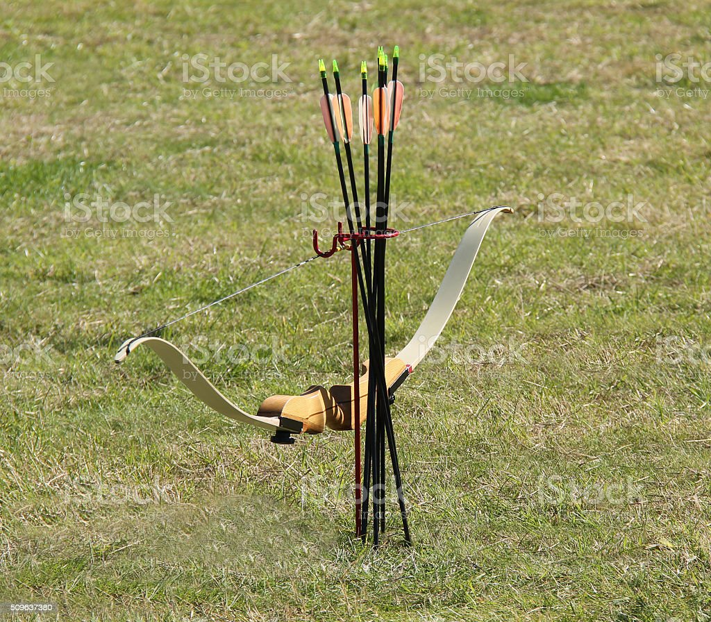 Bow and Arrows. stock photo