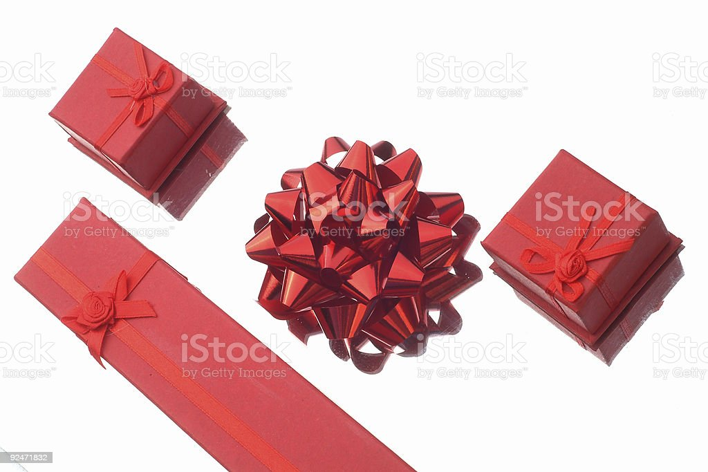 Bow and Boxes stock photo