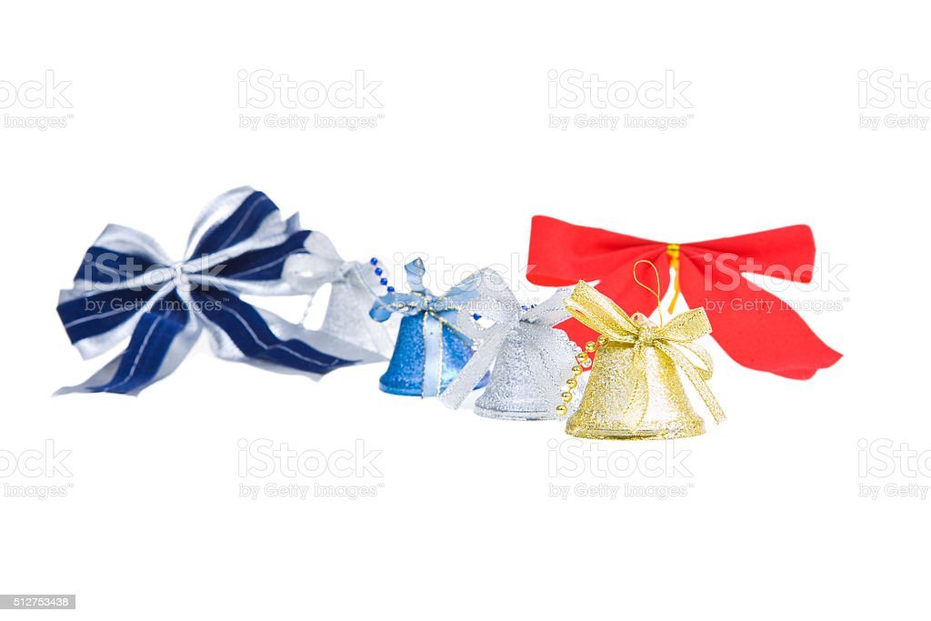 bow and handbell stock photo