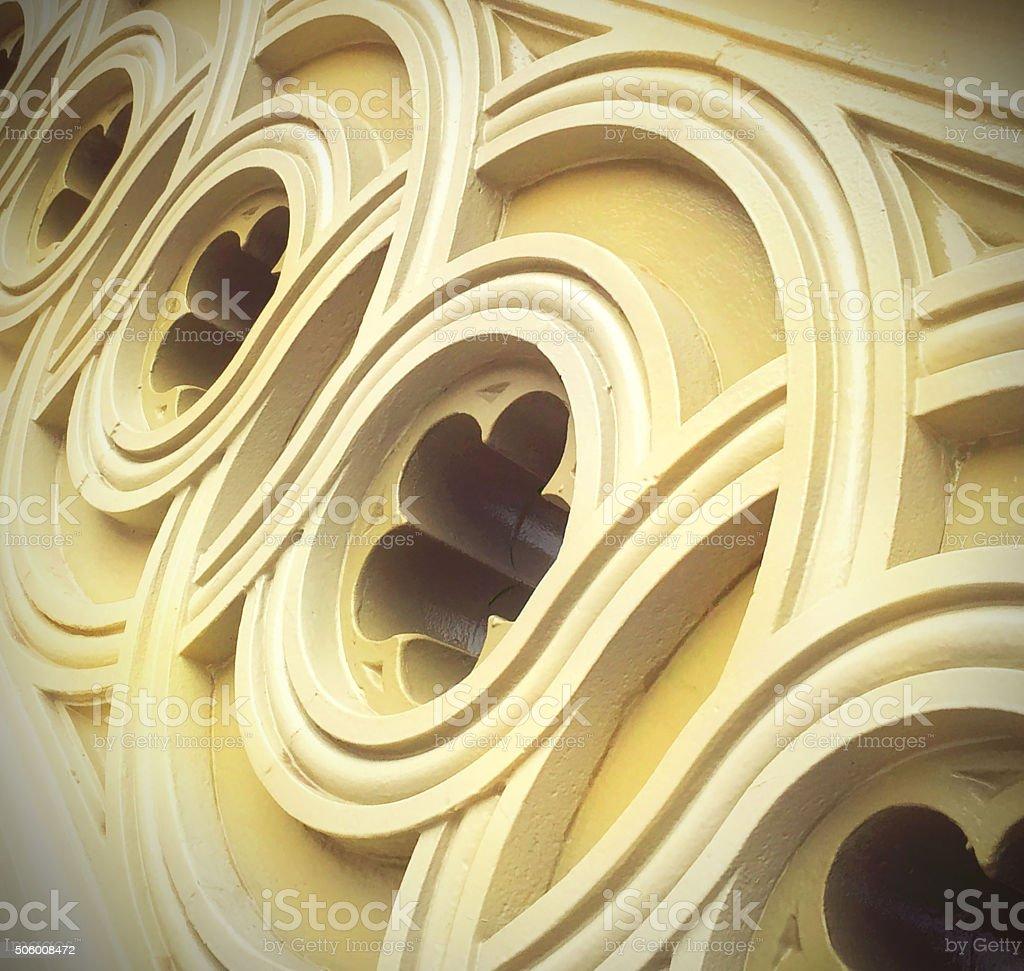 Bow Bridge Central Park Architectural Detail stock photo