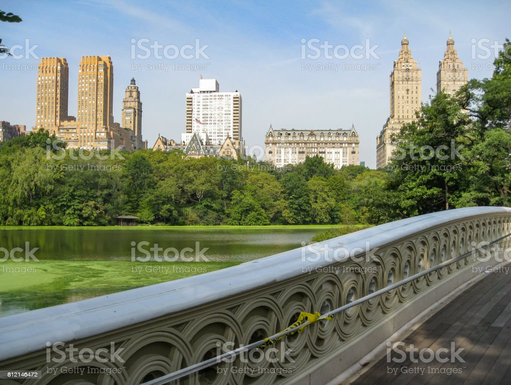 Bow Bridge Central Park New York City stock photo