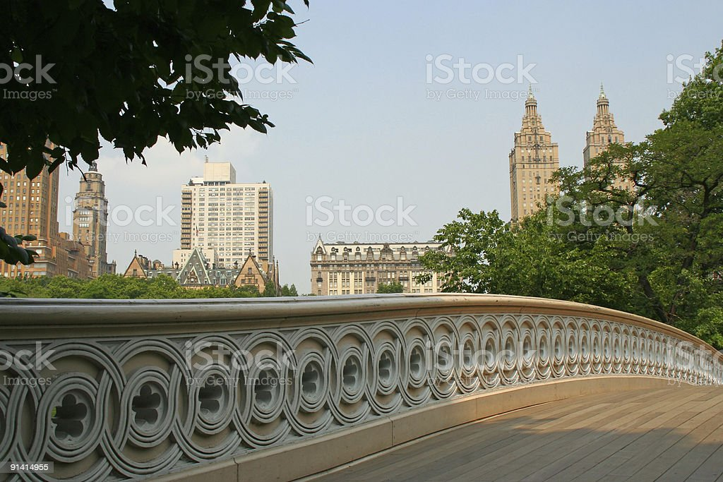 Bow Bridge Central Park - New York stock photo