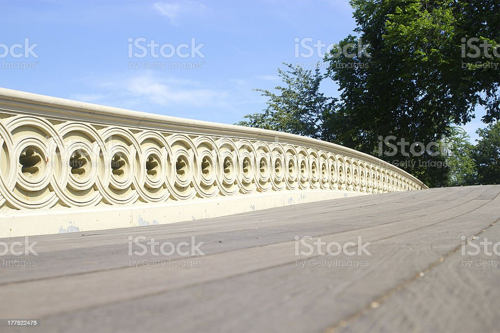 Bow Bridge, Central Park, NYC stock photo