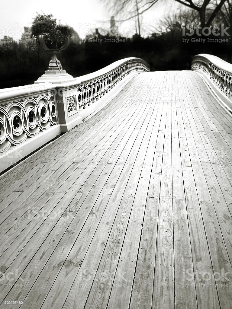 Bow Bridge Central Park NYC stock photo