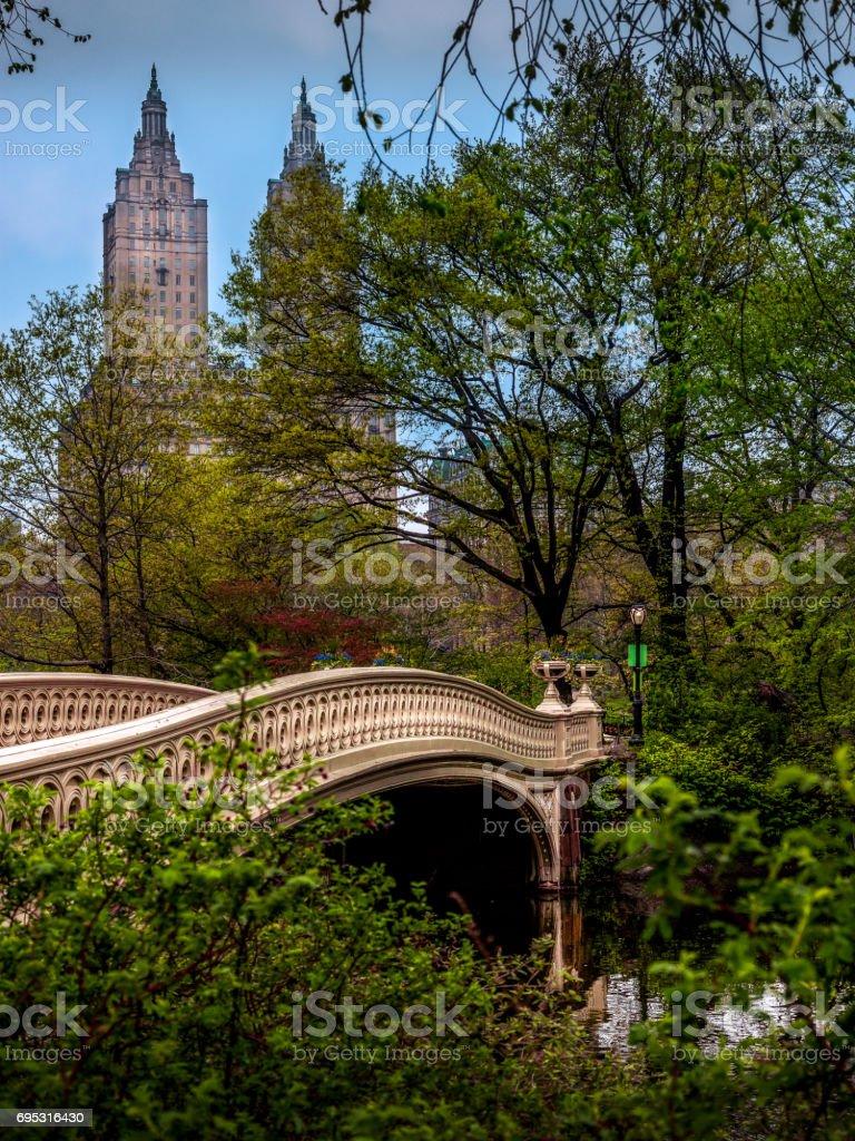 Bow Bridge - Central Park stock photo