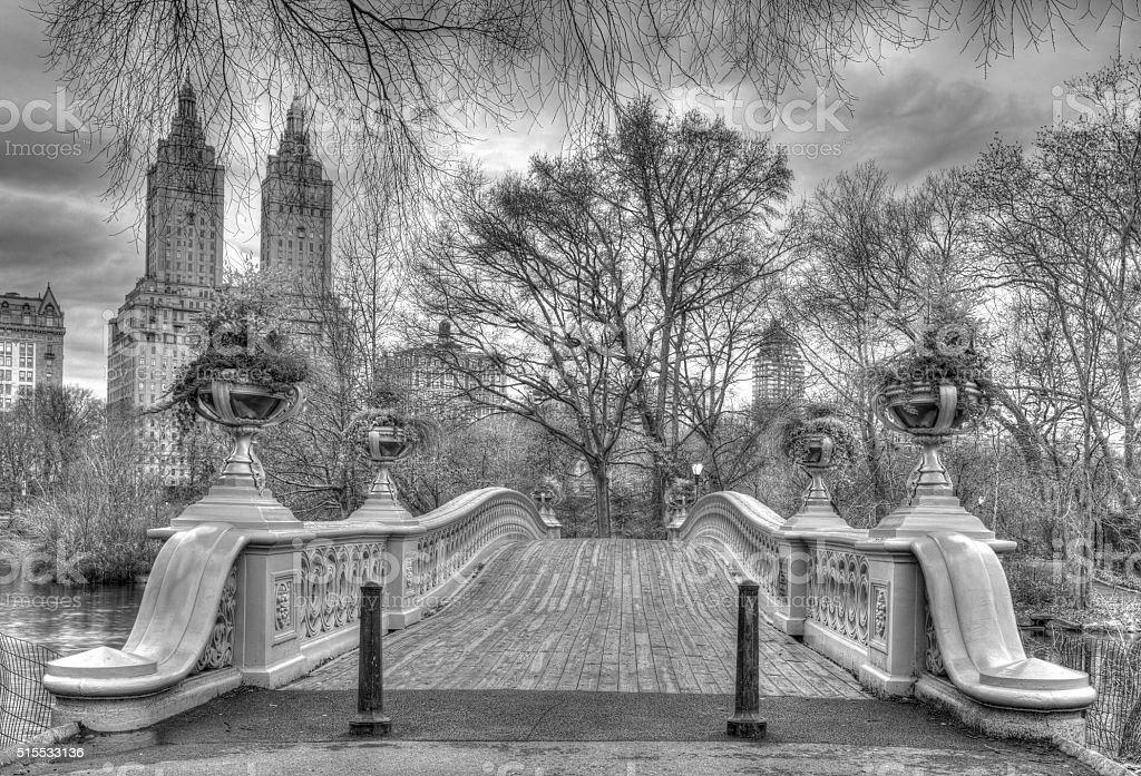 Bow bridge Central Park,New York City stock photo