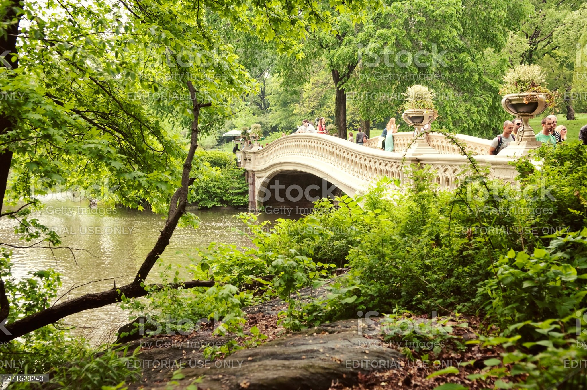 Bow Bridge in Central Park royalty-free stock photo