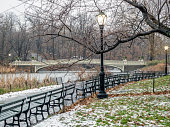 Bow bridge in winter