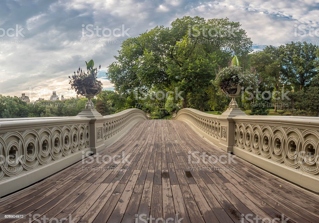 Bow bridge stock photo