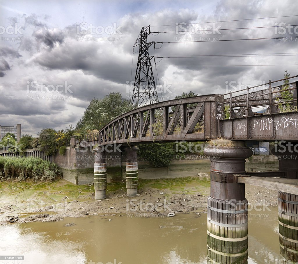 Bow Creek, London stock photo