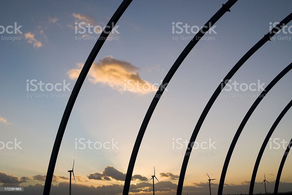Bow Elements In The Evening Sky stock photo