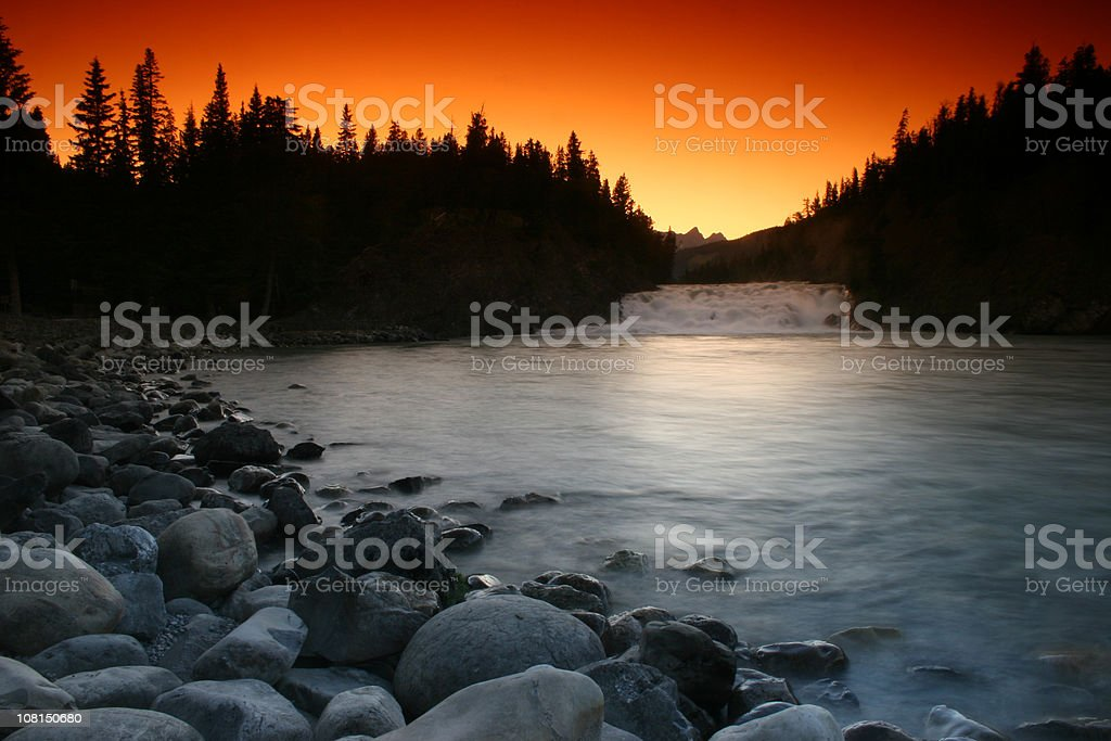 Bow Falls In Banff National Park royalty-free stock photo