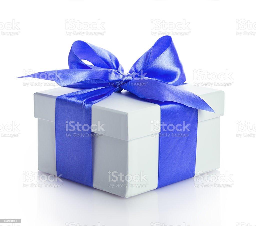bow gift box stock photo
