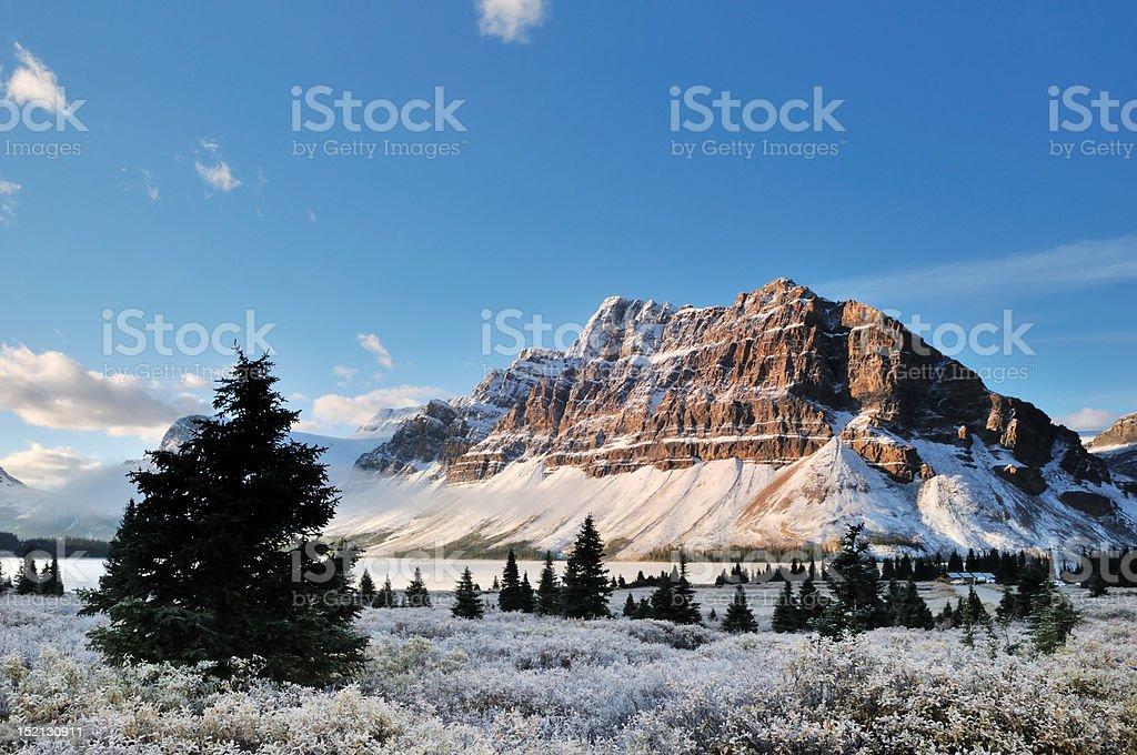 Bow Lake sunrise, Banff National Park royalty-free stock photo