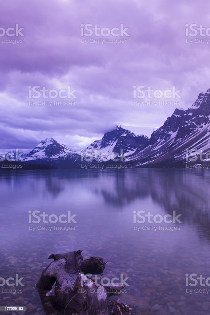 Bow Lake Sunrise stock photo