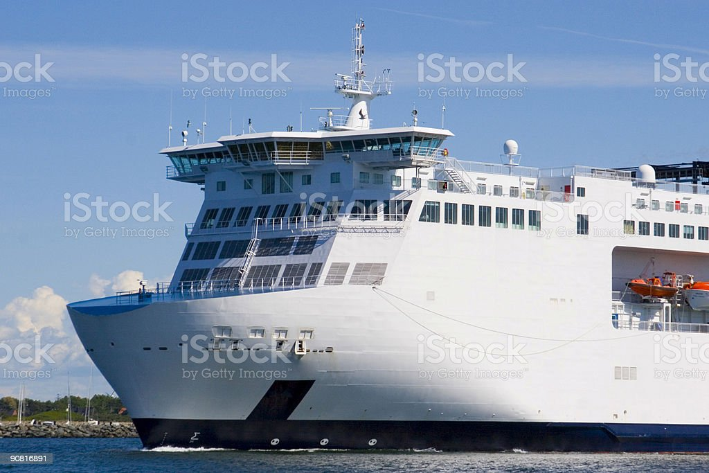 Bow of a ferry royalty-free stock photo