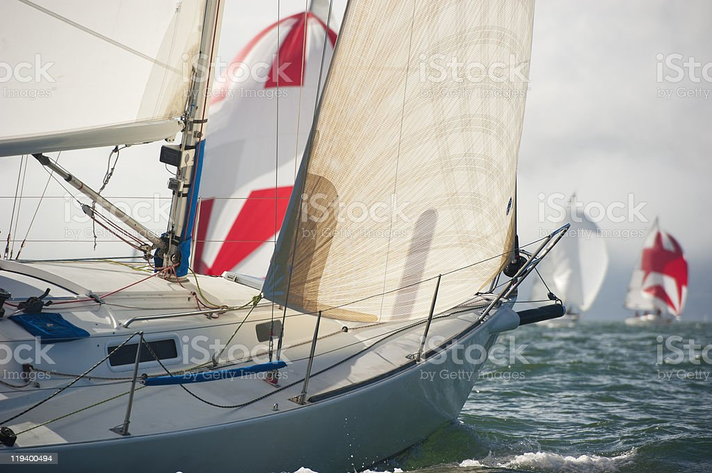 bow of a sailing vessel stock photo