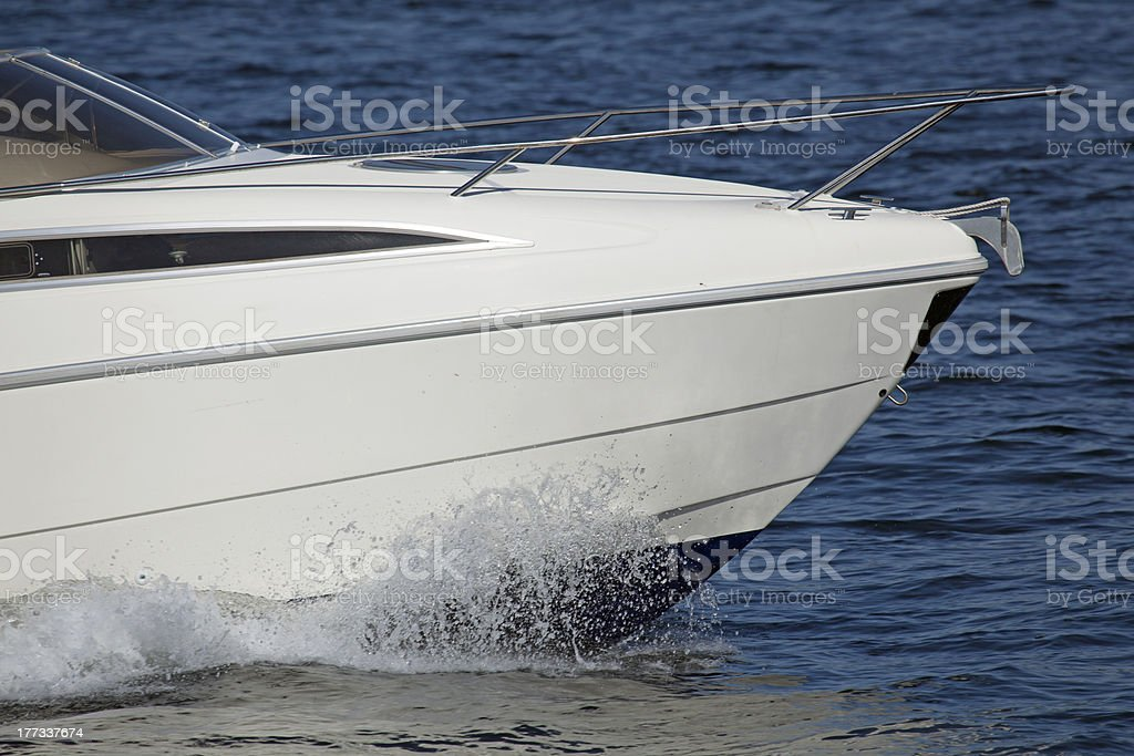 Bow of a sportsboat royalty-free stock photo
